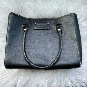 Kate Spade Black Leather Quinn Wellesley Hand Bag
